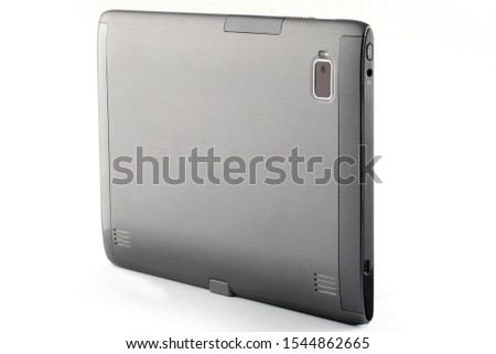 Modern tablet computer isolated on white background. Tablet pc and screen with clipping path #1544862665