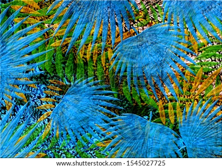 colorful oil paint leaves pattern #1545027725