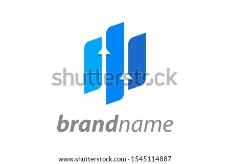 Simple illustration logo for financial company. #1545114887