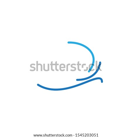 Wave logo template design. Icon wave illustration vector. #1545203051