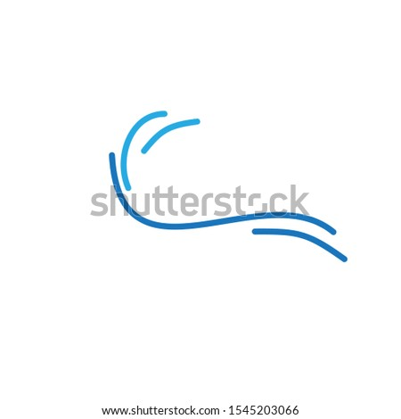 Wave logo template design. Icon wave illustration vector. #1545203066