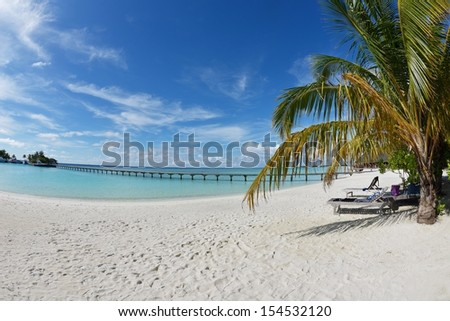 tropical beach nature landscape scene with white sand at summer #154532120