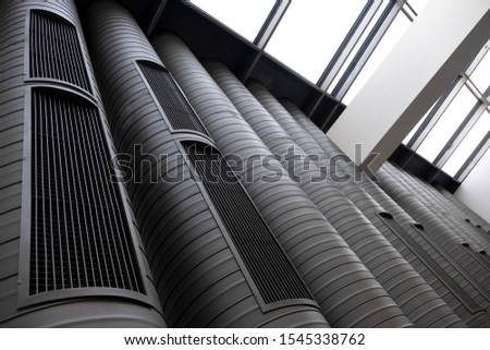 Ventilation Pipes Inside A Modern Building #1545338762
