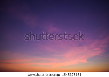 sunset sky in the evening,dusk sky  Royalty-Free Stock Photo #1545378131