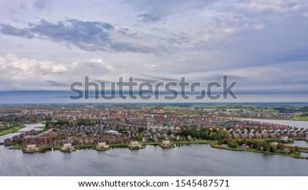 City of the sun Heerhugowaard Netherlands seen from above. #1545487571