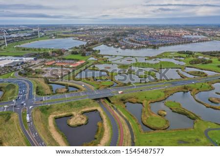 City of the sun Heerhugowaard Netherlands seen from above. #1545487577