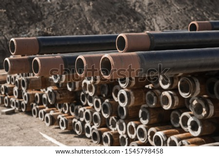 Pipes in the oil industry. Oil industry #1545798458