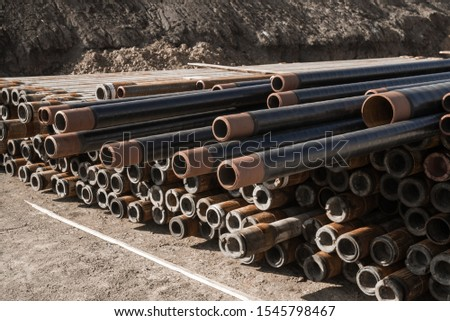 Pipes in the oil industry. Oil industry #1545798467