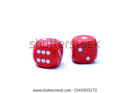 red dices on a white background #1545903572