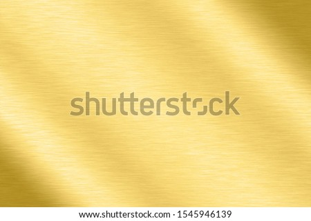 Abstract Shiny smooth line metal Gold color background Bright vintage Brass plate chrome element texture concept simple bronze foil panel hard backdrop design, golden light polished banner wallpaper. #1545946139