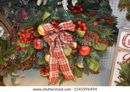 Christmas Wreaths and Garland for decorations around the house #1545996494