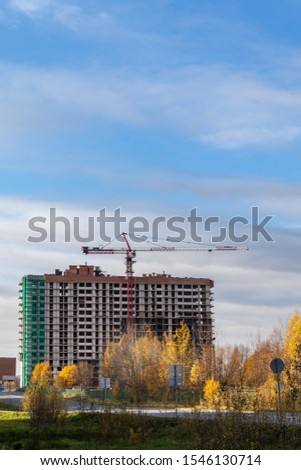Construction of a modern residential complex. Residential complex 'Otrada', Moscow, Russia #1546130714