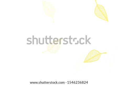 Light Yellow, Orange vector doodle cover. Sketchy doodles with colorful gradient leaves. New template for your business design. #1546236824