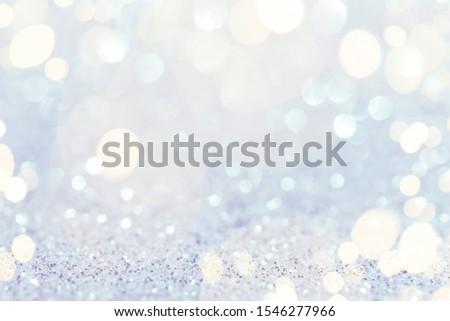 Abstract bokeh lights, defocused. Christmas background #1546277966