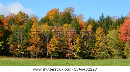 Fall landscape eastern townships Quebec province Canada