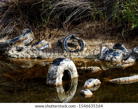 Pollution and pollution accumulate in a lagoon on the outskirts of Madrid, Spain #1546635164