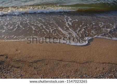 Wave. Coast. Morning at sea, ocean. Sea foam. Free place #1547023265