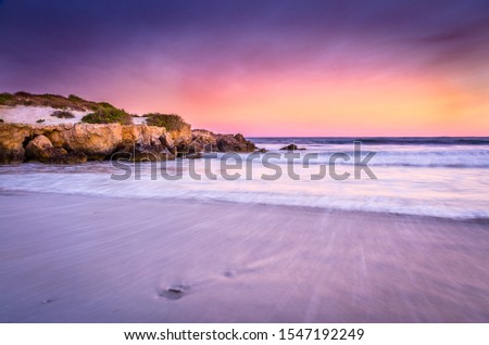 dramatic sunrise at the beach #1547192249