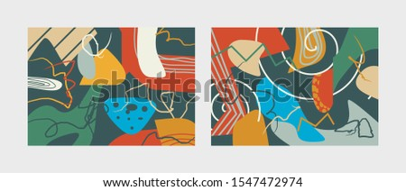 abstract doodle background. colorful. vector #1547472974