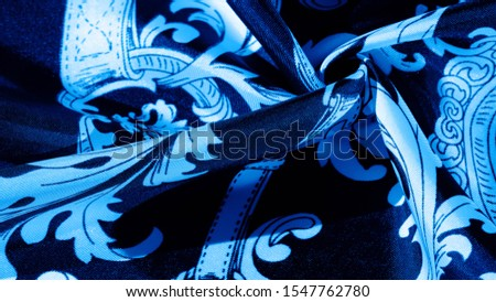 texture, background, black silk fabric with a monogram pattern Exquisite pattern of filigree fabric your design will delight you for a long time #1547762780