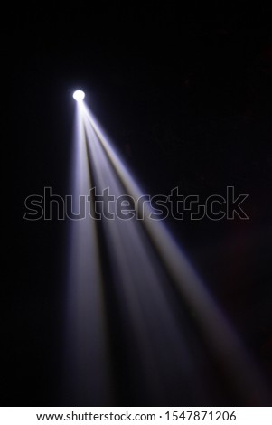 Theater lights spotlights over the stage, texture background for design. #1547871206