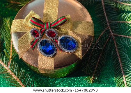 Concept of accessories and jewelry, christmas gift and inspiration for ladies #1547882993