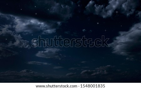 Night starry sky. Night cloudy sky Royalty-Free Stock Photo #1548001835