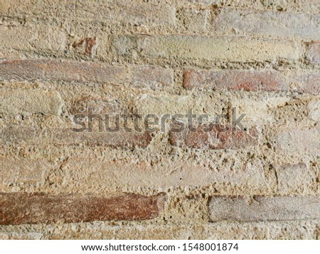 wall texture with weathered and weathered bricks #1548001874