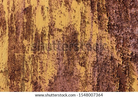 Heavily rusty wall. Rusty background. The texture of rusty steel. #1548007364