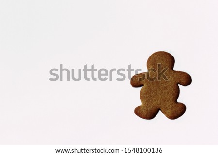 Gingerbread cookies isolated on white #1548100136