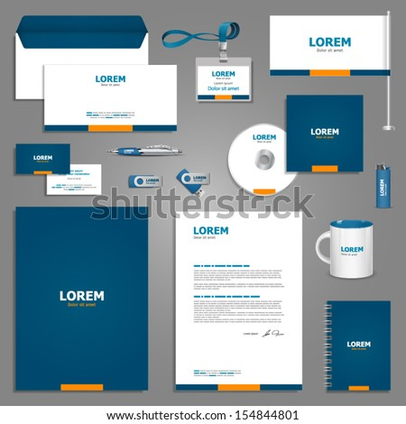 Classic stationery template design. Documentation for business. Royalty-Free Stock Photo #154844801