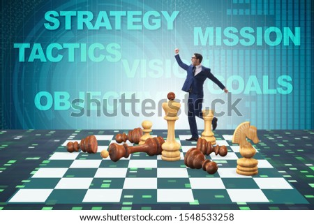 Strategy and tactics concept with businessman #1548533258