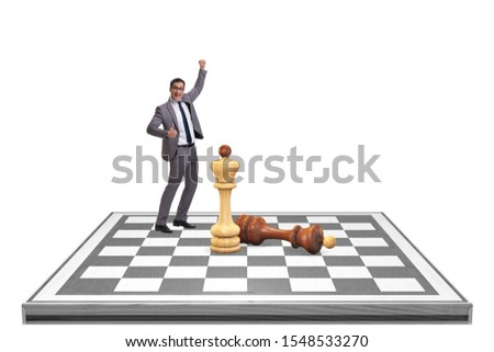 Strategy and tactics concept with businessman #1548533270