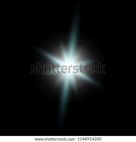 Abstract stylish light effect on transparent background. Golden blue and turquoise glowing neon lines. Glowing trail. Vector illustration. Dimming levels. #1548954200