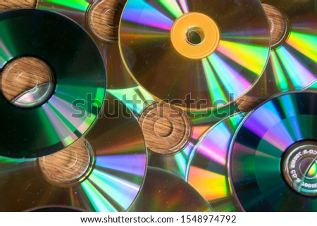 CD and DVD background - Textures