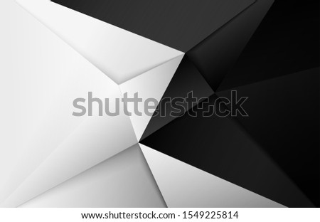 Abstract .Modern background. black-white  polygon background. vector. #1549225814