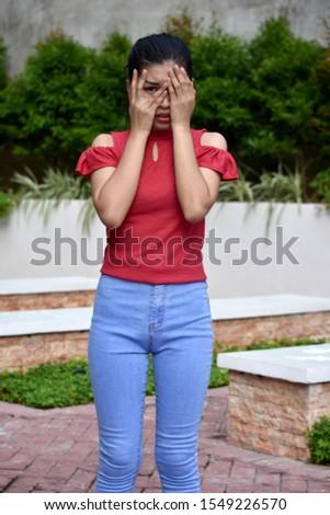 A Cute Teen Girl Afraid #1549226570