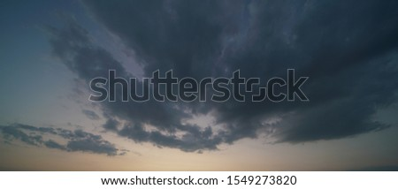 Beautiful sunset sky above clouds with dramatic light. #1549273820