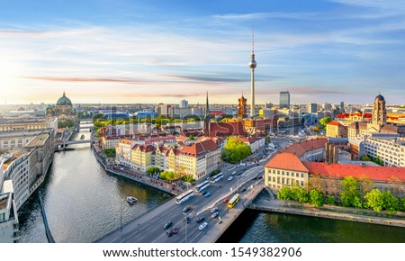 Berlin cityscape at sunset, Germany #1549382906
