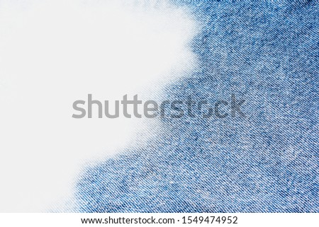 Jeans pattern on the background, cut out, illustration #1549474952