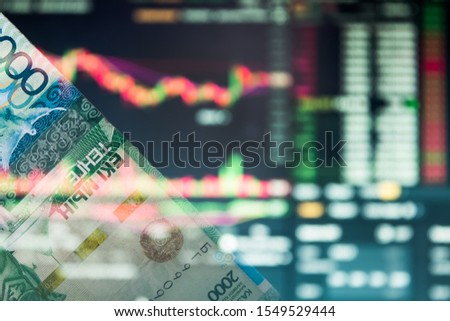 Tenge rise or fall.Analysis of the currency pair tenge to dollar.Forex.Trading.Crisis.Depreciation.Play on the stock exchange,currency market,share market,stock market.Graph analysis,market analysis. #1549529444