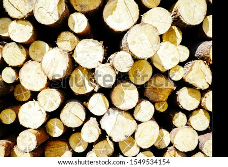 circle part of lumbers. lumbers lay one on one. wooden lumber background #1549534154