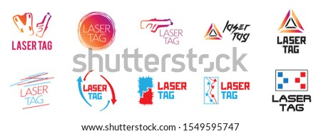 vector logo for laser tag and airsoft