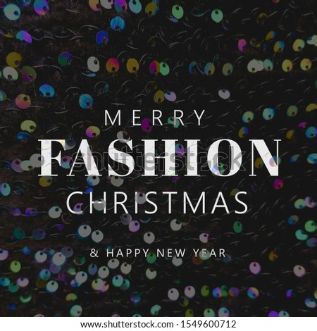 Merry fashion Christmas quote, modern typography, sequin background #1549600712