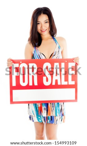 Attractive asian girl in her twenties isolated on a plein background shot in a studio #154993109