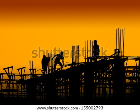 Construction worker working on a construction site #155002793