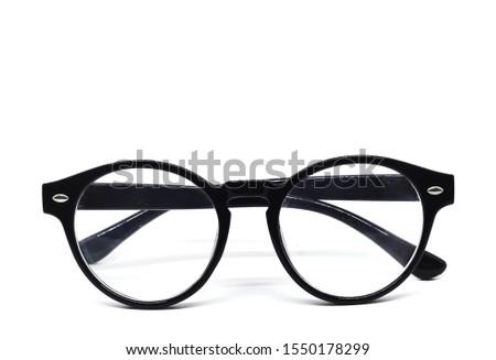 Black sunglasses for fashion, isolated on white background  #1550178299