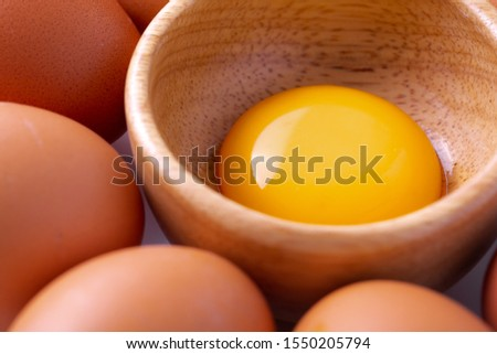 chicken egg isolated on white background Royalty-Free Stock Photo #1550205794