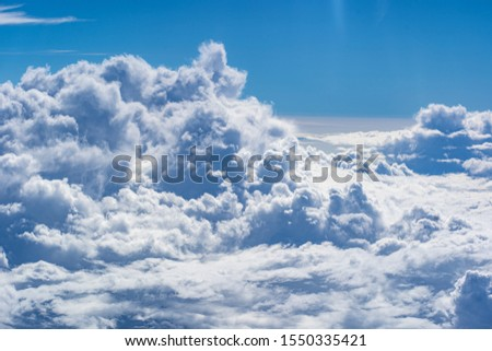 Beautiful blue sky with clouds background.Sky clouds.Sky with clouds weather nature cloud blue #1550335421