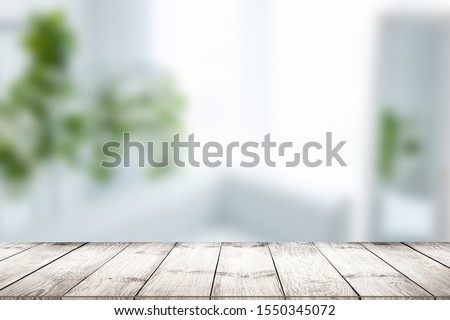 close-up look at wooden with morning bright #1550345072